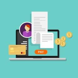 pay bills tax online receipt via computer or laptop