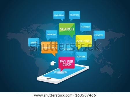Pay per click concept vector #163537466