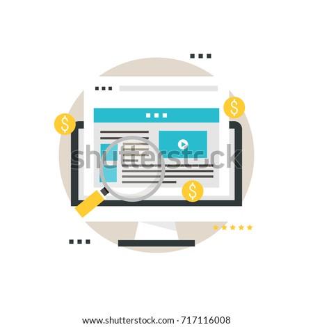 Pay per click, digital ads, online advertisement, advertising optimization, internet marketing  flat vector illustration design for mobile and web graphics