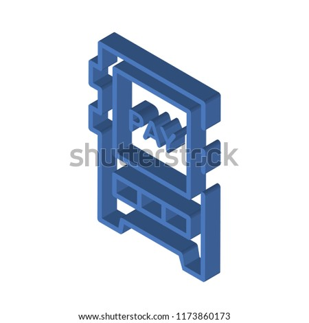 Pay per click isometric left top view 3D icon