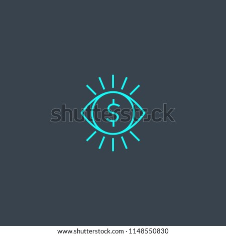 pay per view concept blue line icon. Simple thin element on dark background. pay per view concept outline symbol design from Online Business set. Can be used for web and mobile UI/UX