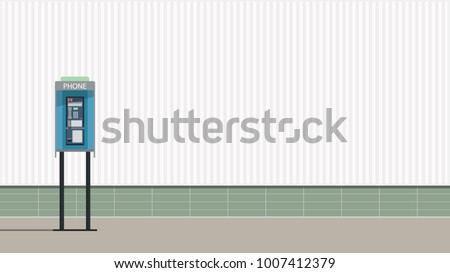 Pay phone vector. free space for text. wallpaper. background.