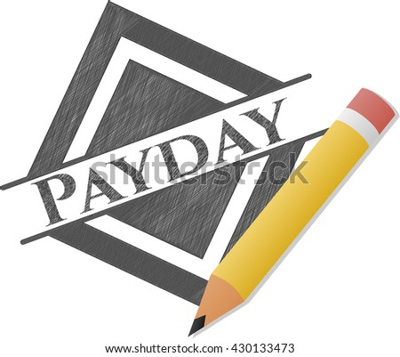 Payday emblem drawn in pencil