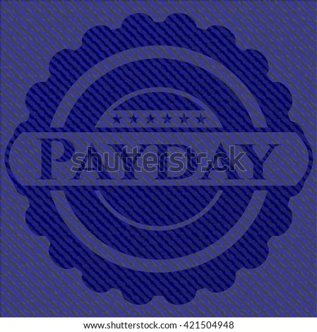 Payday emblem with denim texture