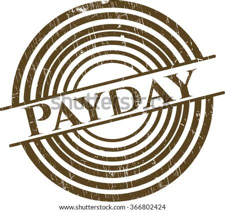 Payday grunge stamp