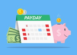 Payday loans monthly salary Illustration Vector