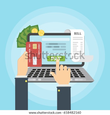 Paying bill online.