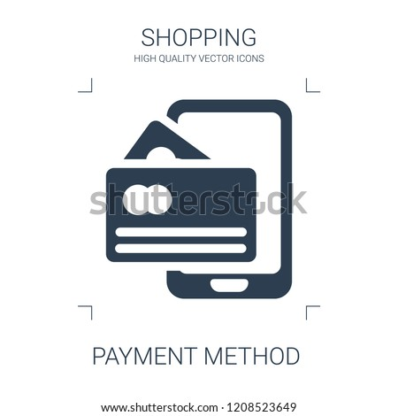 payment method icon. high quality filled payment method icon on white background. from shopping collection flat trendy vector payment method symbol. use for web and mobile
