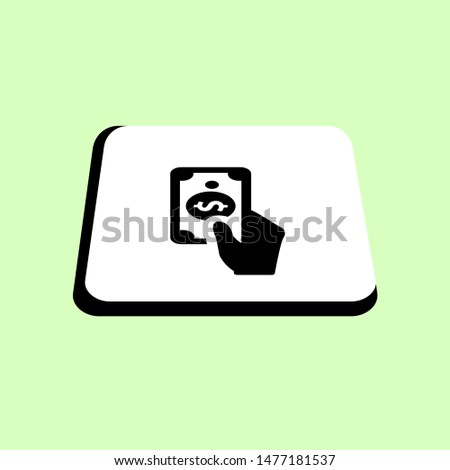 Payment Method simple vector icon. Illustration symbol design template for web mobile UI element. Perfect color isometric pictogram on 3d white square.