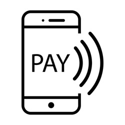 Payment with smartphone icon, online mobile payment