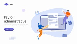 Payroll Administrative Vector Illustration Concept, Suitable for web landing page, ui, mobile app, editorial design, flyer, banner, and other related occasion