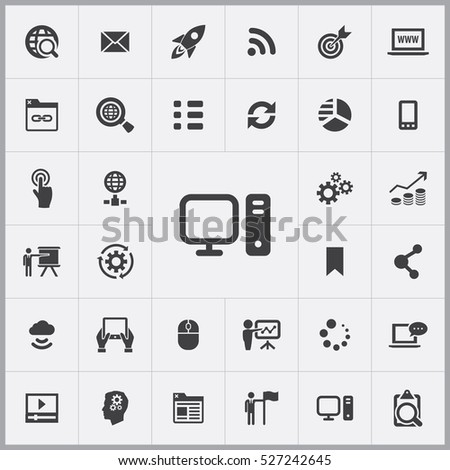 PC icon. digital marketing icons universal set for web and mobile