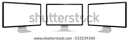 PC Monitor Vector Illustration.