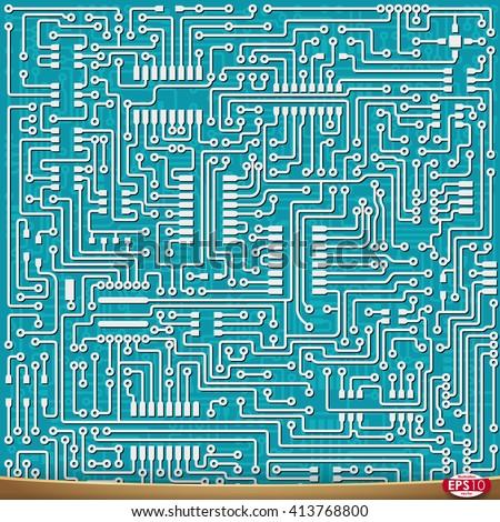 pcb wiring scheme vector