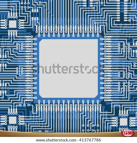 pcb wiring scheme vector pcb