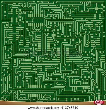 pcb wiring scheme vector pcb