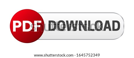 PDF Download Button Isolated Vector