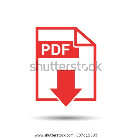 PDF download vector icon. Simple flat pictogram for business, marketing, internet concept. Vector illustration on white background.