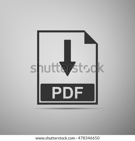 pdf flat icon on grey...