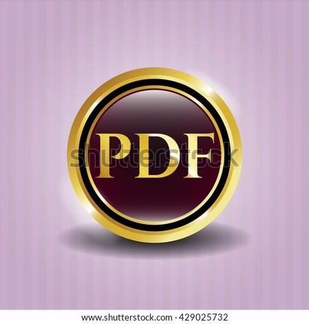 PDF golden badge or emblem