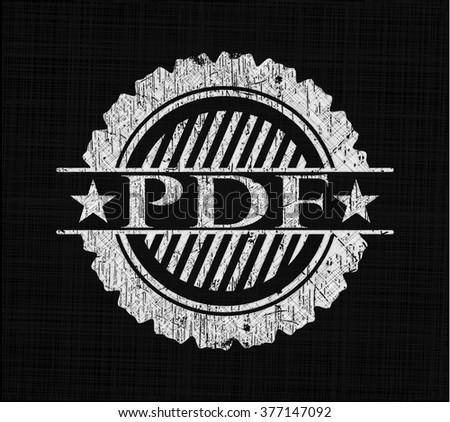 PDF on chalkboard