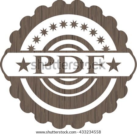 PDF realistic wood emblem