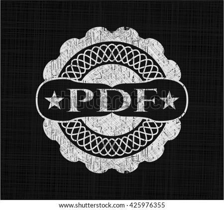 PDF with chalkboard texture