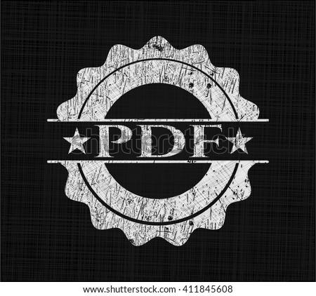 PDF written on a blackboard