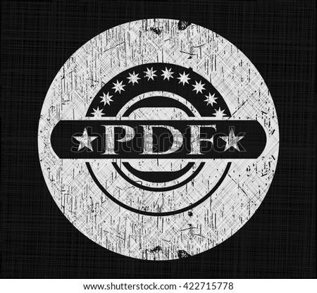 PDF written on a chalkboard