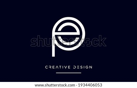 PE or EP Alphabet Letters Abstract Icon Logo ストックフォト ©