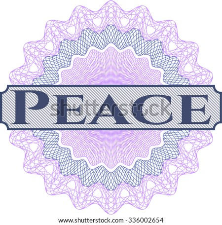 Peace abstract linear rosette