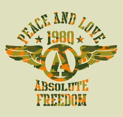 peace and love absolute freedom vector art