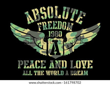 Peace and love absolute freedom vector art 161798702 shutterstock - Treehouses the absolute freedom ...