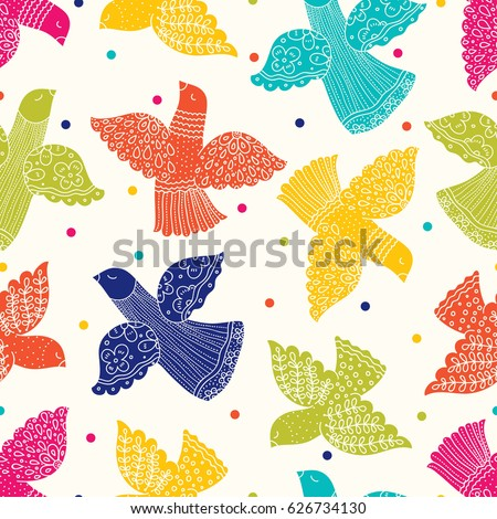 Peace and love. Colorful vector seamless pattern.