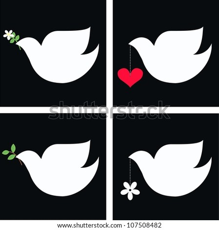 Dove with flower free vector download (10,190 Free vector