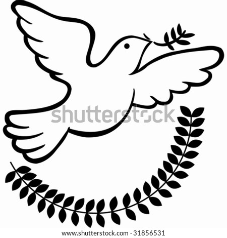 stock vector Peace Dove