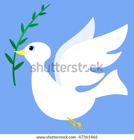 stock vector Peace dove with olive branch vector
