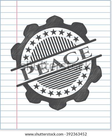 Peace drawn in pencil