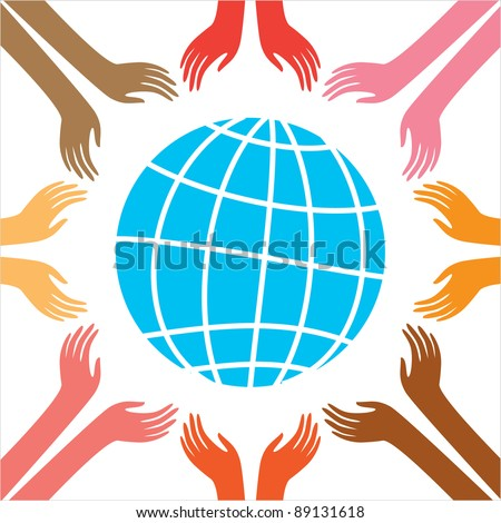 Peace for all people. Vector Illustration. The idea of ??the poster.