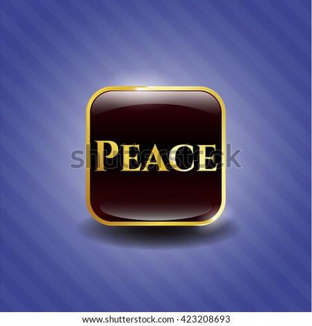 Peace golden badge