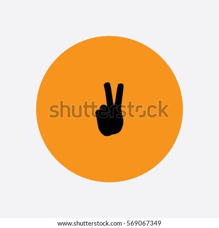 Peace Hand icon silhouette vector illustration