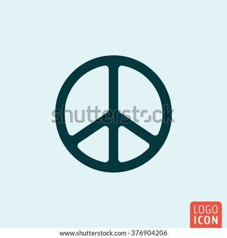 Peace icon. Peace symbol minimal design. Vector illustration.