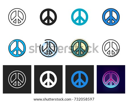 peace icon vector isolated