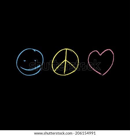 peace   love symbols