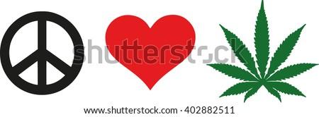 peace love weed marijuana