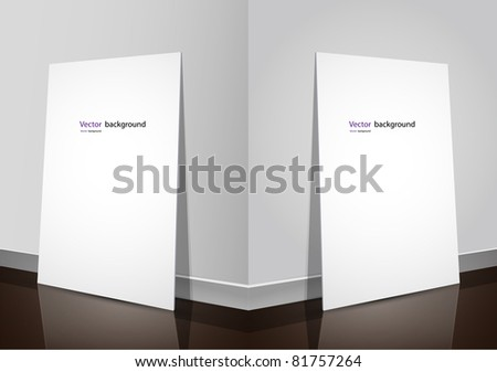 peace of paper on the floor corner vector illustration