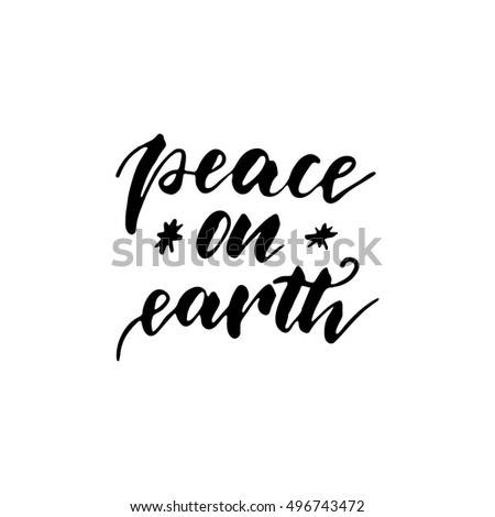 peace on earth   freehand ink
