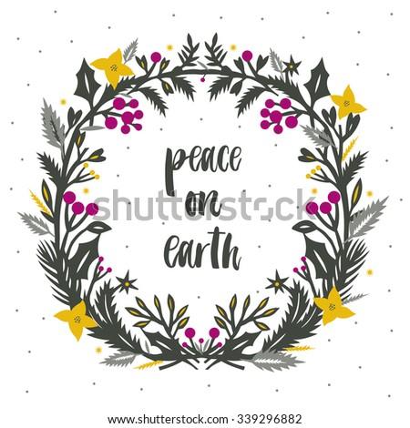 peace on earth print design
