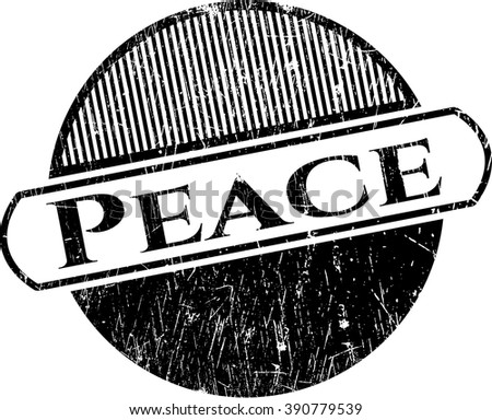 Peace rubber grunge texture stamp