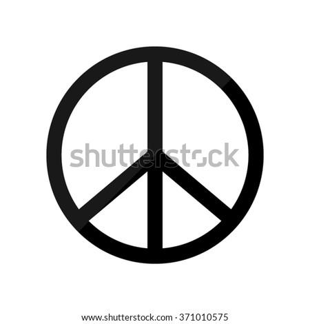 Peace sign -  black vector icon